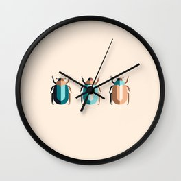 June Bugs Wall Clock