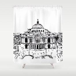 Palacio de Bellas Artes. Vista frontal.  Shower Curtain