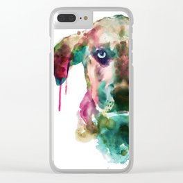 Cute Doggy Clear iPhone Case