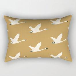 Tundra Swan (Mustard) Rectangular Pillow