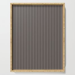 Grey-brown striped Serving Tray