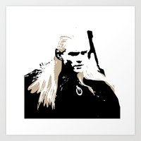 legolas Art Prints featuring Legolas by Cat Milchard