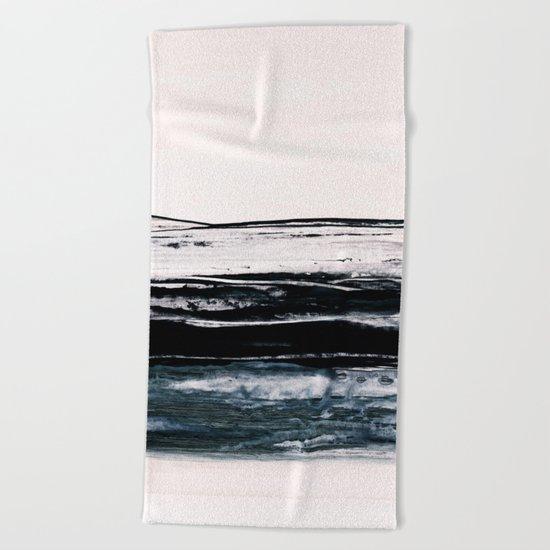 abstract minimalist landscape 9 Beach Towel
