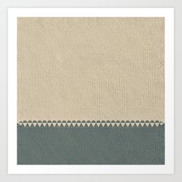 Texture Taupe and Grey Green Pattern Art Print