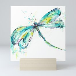 Watercolor Dragonfly Mini Art Print
