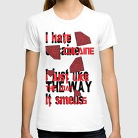 cocaine T-shirts featuring I hate Cocaine #4 by John D'Amelio
