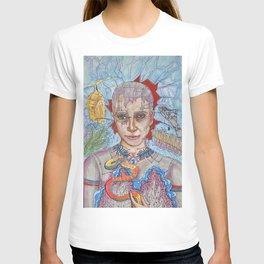 futuristic snake cyberqueen T-shirt