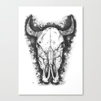 bull Canvas Prints featuring BULL by Morgan Ralston