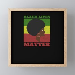 Black Lives Matter Framed Mini Art Print