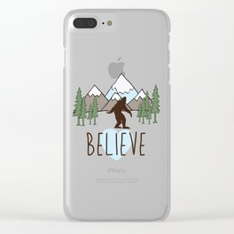 Believe in Bigfoot Clear iPhone Case