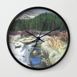 Colorado Landscape Mountain Stream Wall Clock
