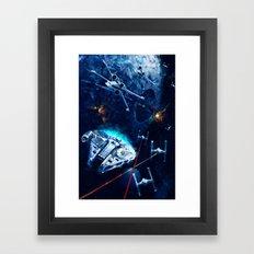 Star Wars Death Star Attack Framed Art Print