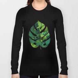 Tropical Banana Leaves Unique Pattern Long Sleeve T-shirt