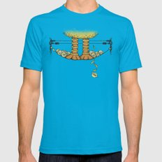 Big Jerk X-LARGE Mens Fitted Tee Teal