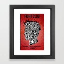 Typography Tyler Durden Uncensored Framed Art Print