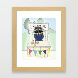 Lemonade seller Framed Art Print