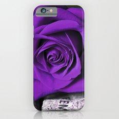 PURPLE ROSE on cork iPhone 6 Slim Case