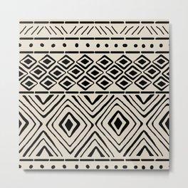 African Mud Cloth // Bone Metal Print