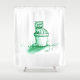 Catctus Shower Curtain