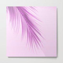 Pink Palm Leaf On A Pink Background #decor #society6 #buyart Metal Print