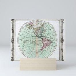 Vintage Map of North and South America Globe (1764) Mini Art Print