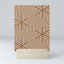 Saddle brown - brown - Minimal Vector Seamless Pattern Mini Art Print