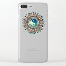 Bohemian Batik Yin Yang Clear iPhone Case