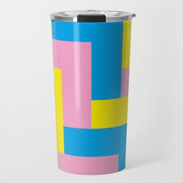 An easy one. Arrow heads...Graphical arrow heads in children colors. Travel Mug