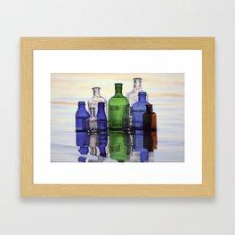 Beach Bottles Framed Art Print