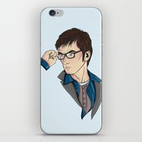david tennant iPhone & iPod Skins featuring Dr Who David Tennant by Hungry Designs