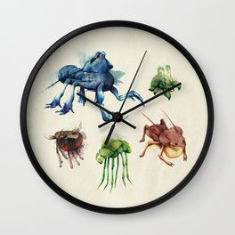Iridescent Bugs - Set B Wall Clock