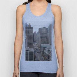 Chicago City Street Tilt Shift Color Photograph Unisex Tank Top