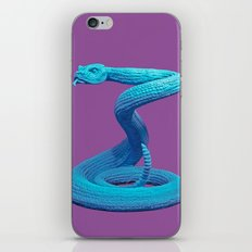 Blue Snake Poster iPhone & iPod Skin