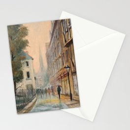 Rainy Day In Oxford England Stationery Cards