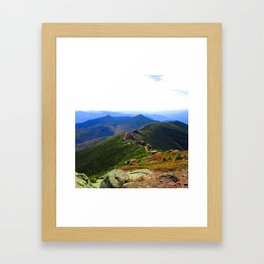 Mount Lafayette in the Clouds Framed Art Print