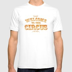 Welcome to the Circus / Dark SMALL White Mens Fitted Tee