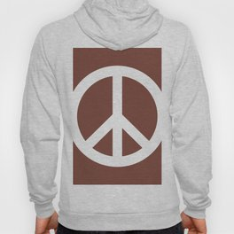 Peace (White & Brown) Hoody