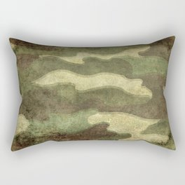 Distressed Camouflage Rectangular Pillow