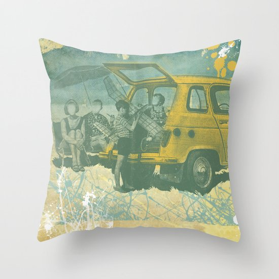 when i was young _ model planes and station wagons Throw Pillow