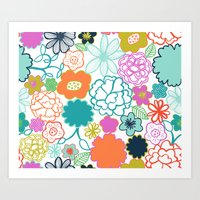 chelsea Art Prints featuring Chelsea by Elephant & Rose