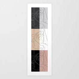 iFail Collage portrait split (Picture This!) Art Print