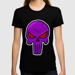 Skull Face - Purple War T-shirt