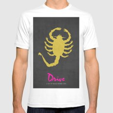 Drive - Minimalist Poster White Mens Fitted Tee LARGE