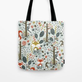 Rustic  Woodland Animals Tote Bag