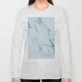 Teal Swirl Marble Long Sleeve T-shirt