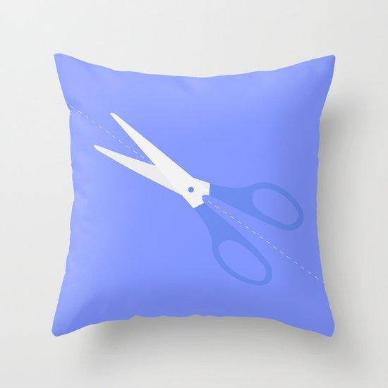 #40 Scissors Throw Pillow