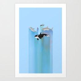 Ever Blue (alternate color) Art Print