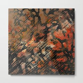 Red Fragmentation Metal Print