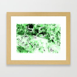 keyboard keys letters wsdie Framed Art Print