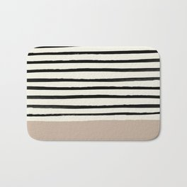 Latte & Stripes Bath Mat